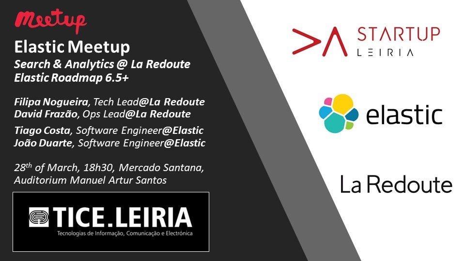 Elastic Meetup Leiria announcement