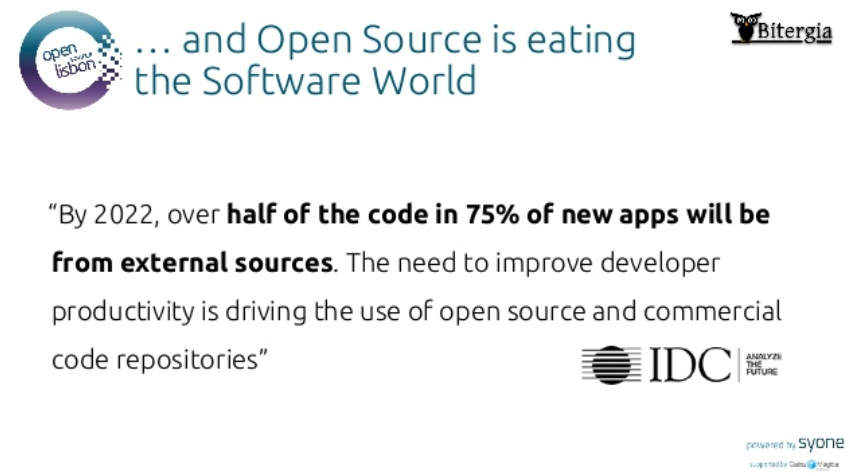 Open Source is eating the Software World, IDC