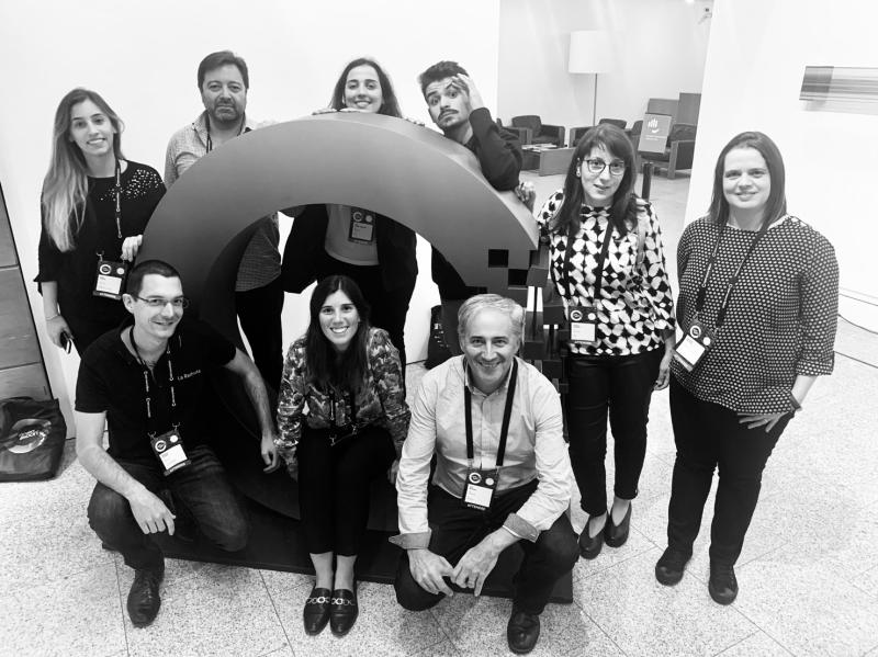 Closing photo with La Redoute.io Teams & Raquel Carvalho, Marketing Manager @ Syone